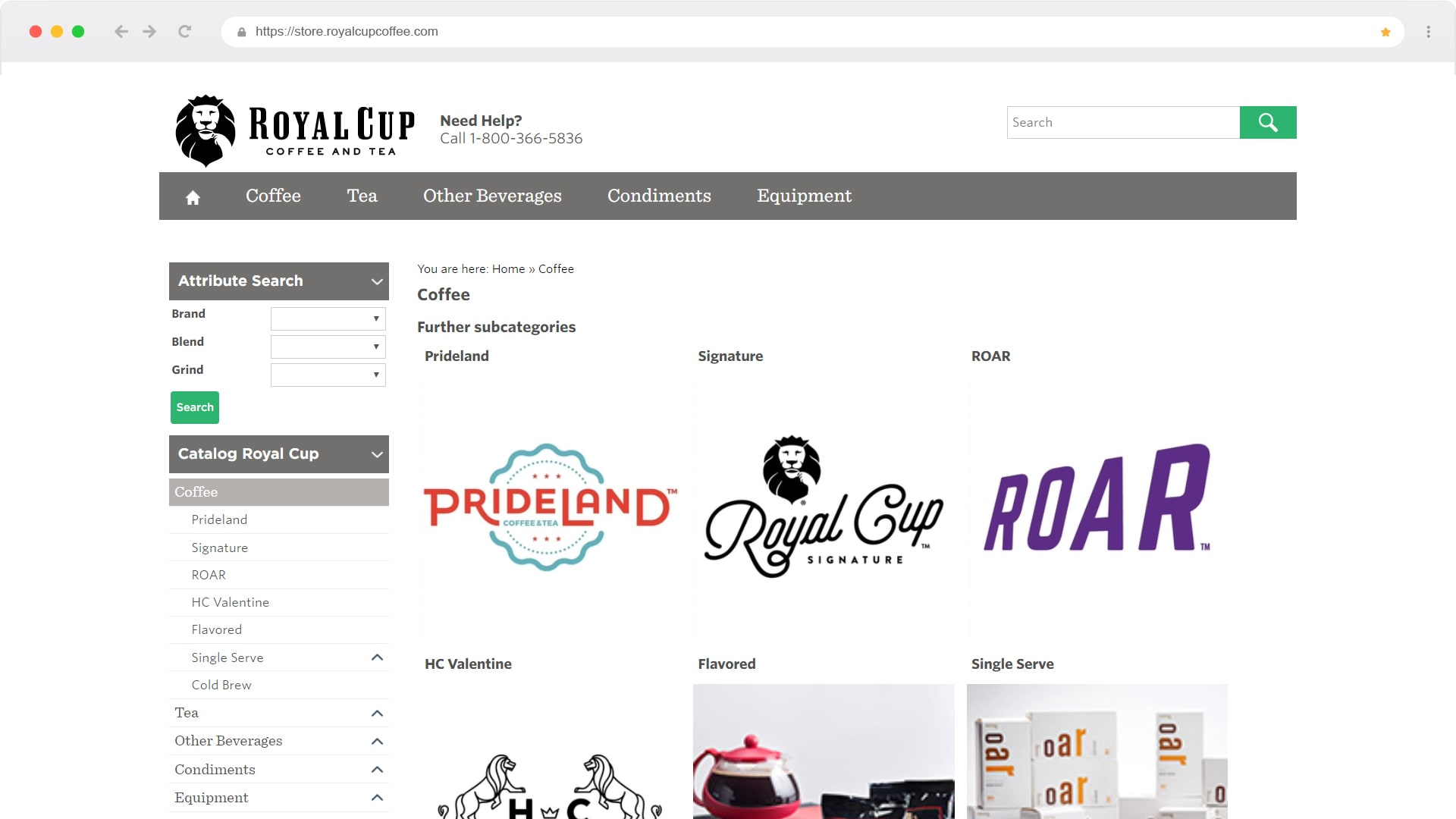 The Royal Cup webstore CNBS designed that is connected real time with SAP