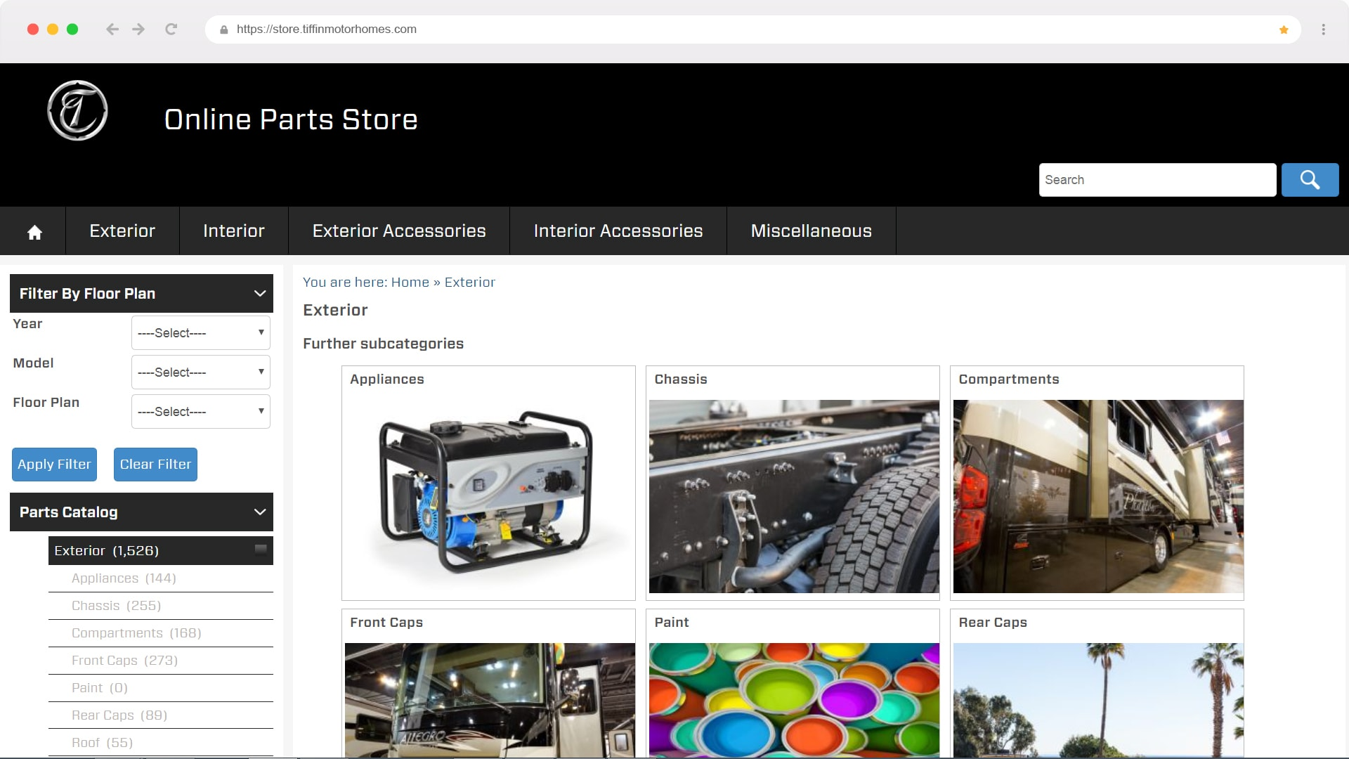 The Fives webstore CNBS designed that is connected real time with SAP