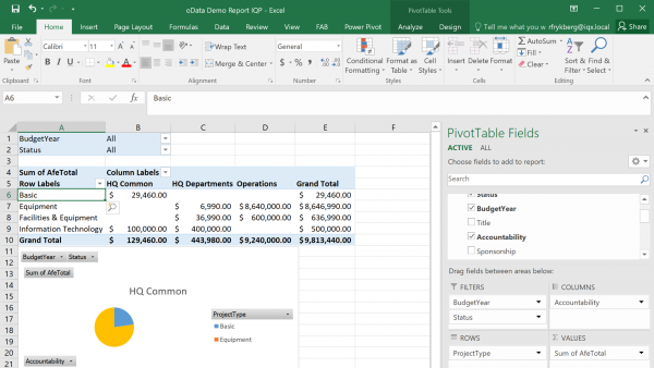 SAP Capex Analytics in real time directly in Excel