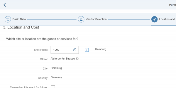 SAP Capex Purchase Requisitions Screenshot