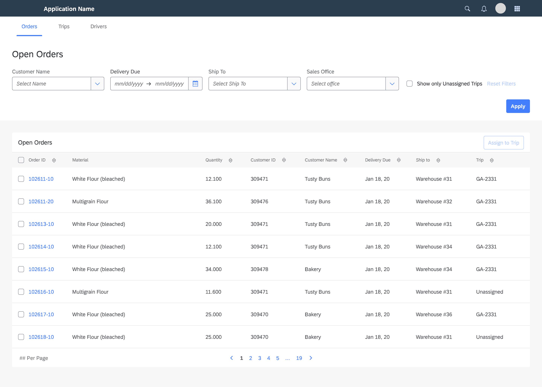 Custom SAP Fiori App Screenshot made by CNBS Software